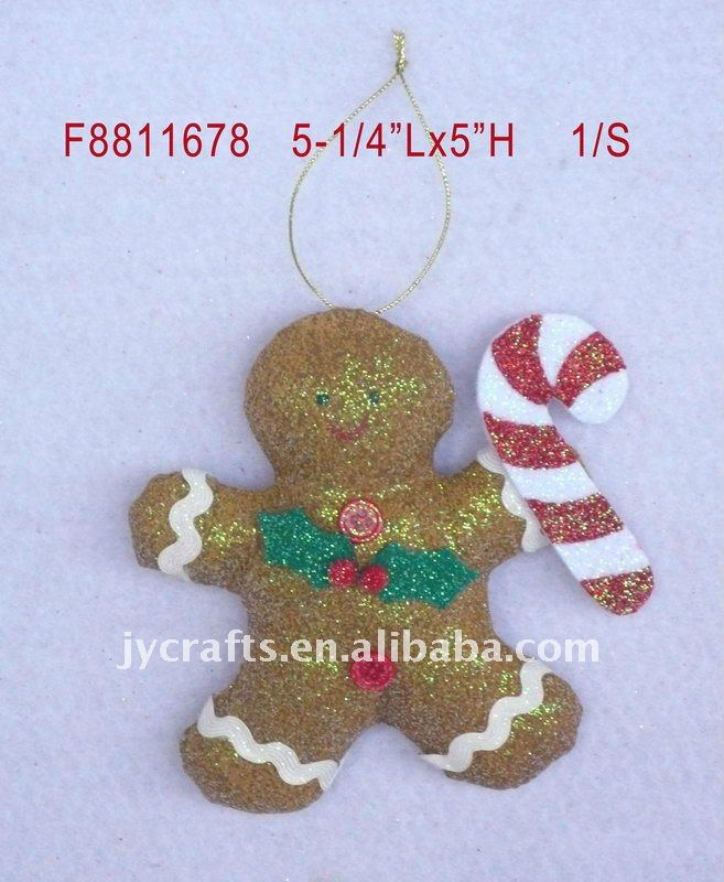 Christmas home decoration of gingerbread man orna