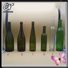premium 75cl wine glass bottle, many types for choose