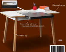 Aparência moderna home office desk/mesa PC com cinza sólido perna
