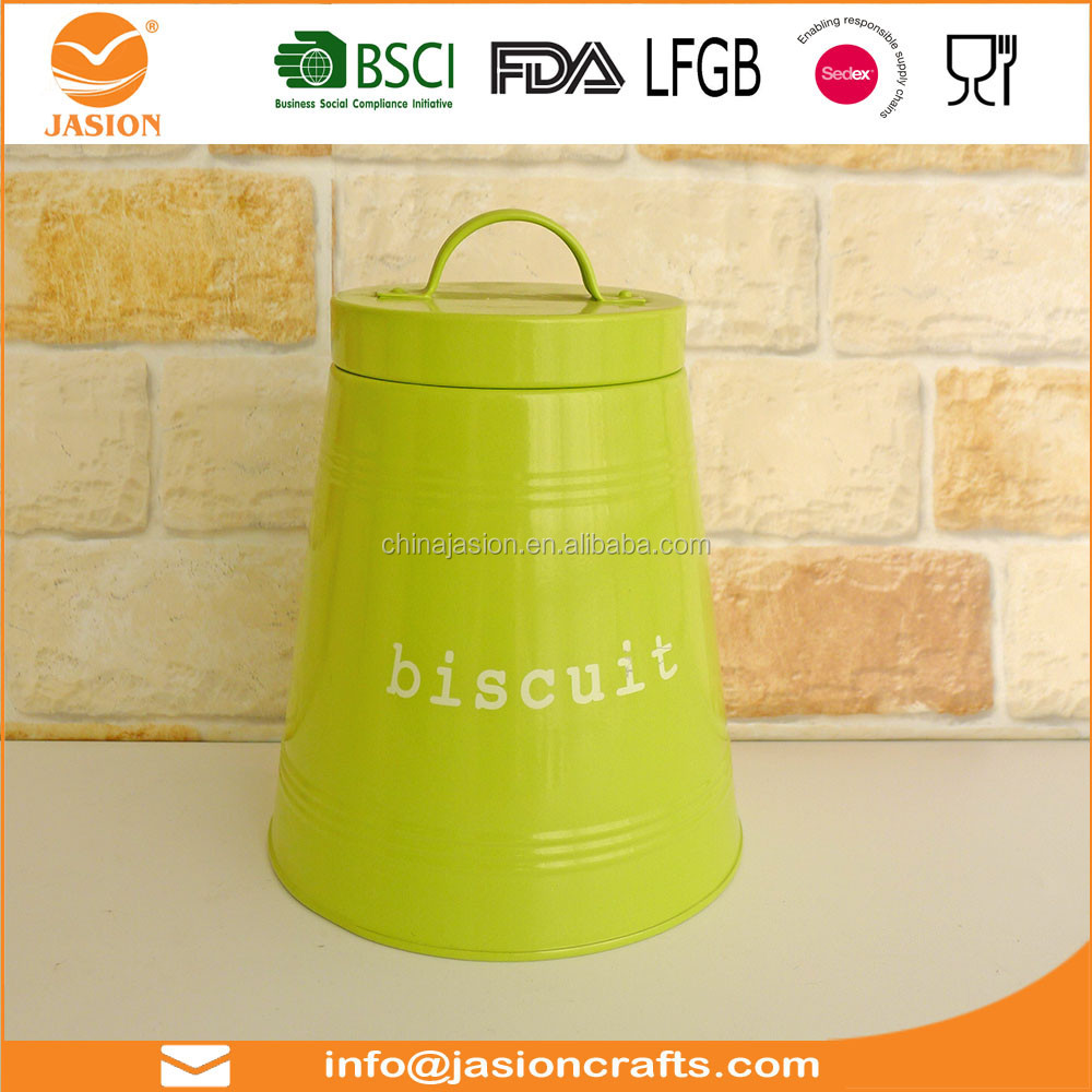 BRO0015 Powder Coating Food Canister Biscuit Canister Colorful Canister Set