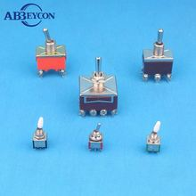 Mini PCB mounted angle pin DPDT on-off-on momentary toggle switch