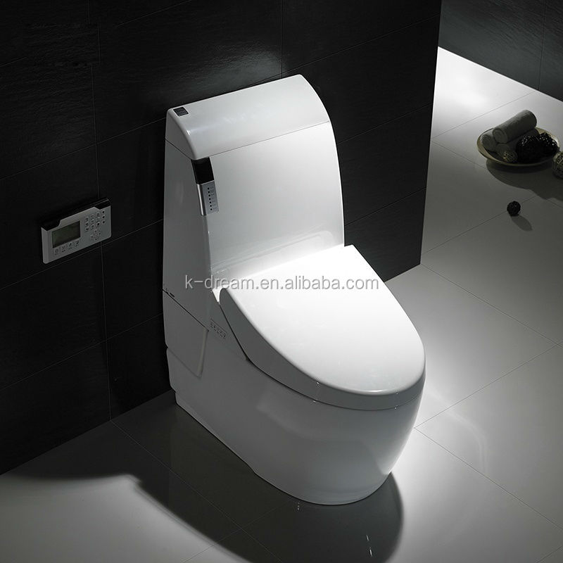 Floor mounted electronic sanitary wares ceramic smart sensor toilet auto flush