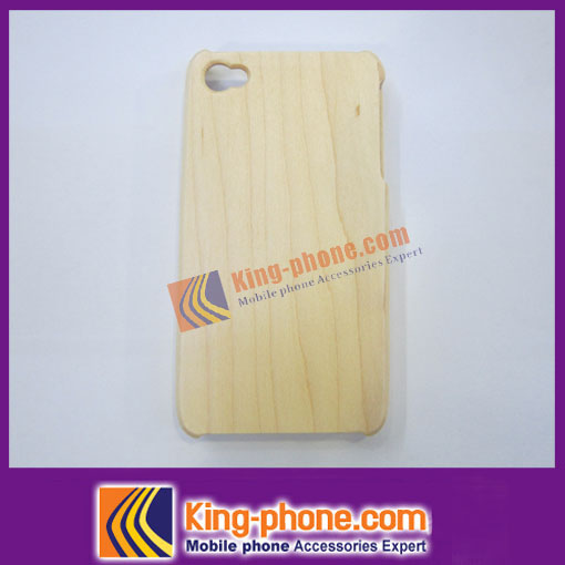 For iphone 4 white bamboo wood mobile phone case, white wood phone case
