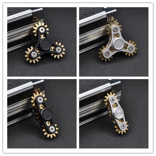 amazon 2017 funny gear design fidget hand spinner metal alloy