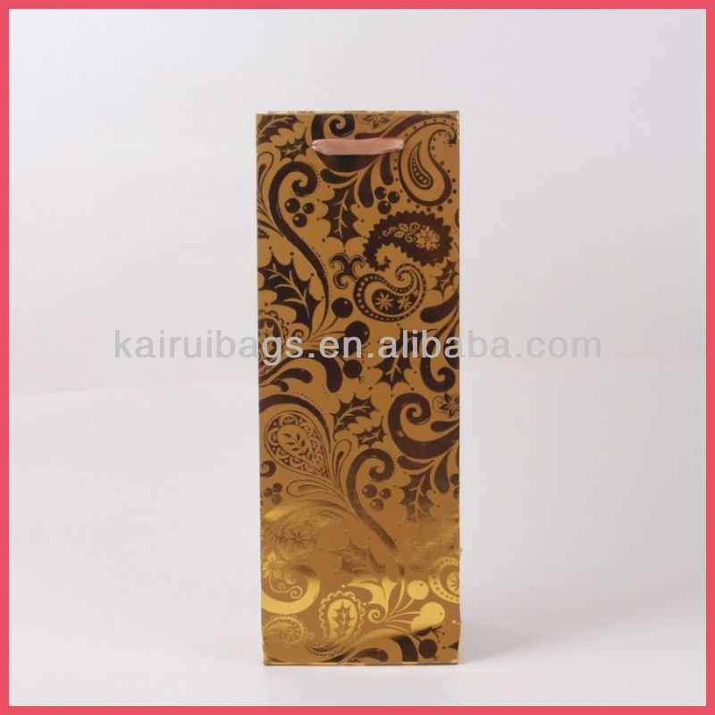 Cheap Paper Material Christmas Wine Gift Bags