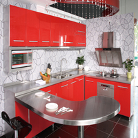 apartment colored whole 304 stainless steel kitchen cabinet set