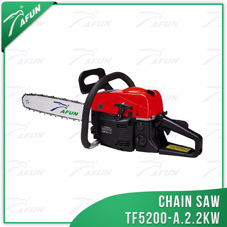 Most popular gasoline chain saw 5200 with 52cc displacement