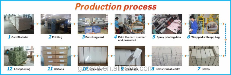 Factory price paper & pvc card printing prepaid scratch off phone card with pin number