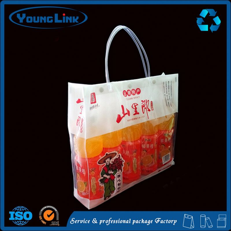 High quality Popular design china handle plastic hat bag for market