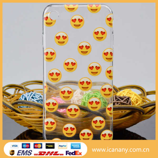 Hot selling cute emoji mobile phone case transparent soft printing cell emoji phone cover