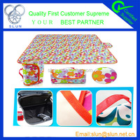 Outdoor travelling necessary high quality polyester plastic picnic mat avaliable