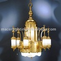 Mosque gold copper hanging pendant lamp chandelier lantern