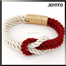 Wholesale Jewelry Magnetic Woven PU Leather Cheap Braided Hemp Bracelets