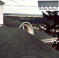 Professional round cheap roofing materials,asphalt roofing shingles prices made in China