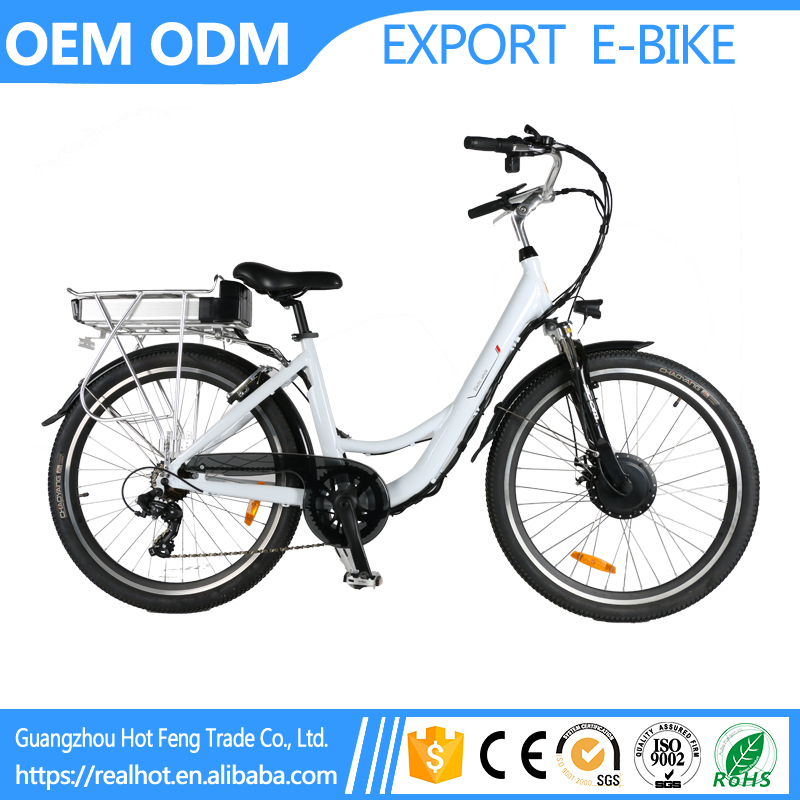 Cheap Best Quality 26 inch 7 Speed 36V 10A Li Battery Electric Bike ECO Outing Front Drive Motor raleigh bicycle india