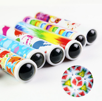 best kids gift paper material outdoor toy promotional telescope lens mini kaleidoscope with led light for sale
