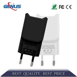 Two Ports For Samsung I9300 I9220 I9000 Mobile Phone Travel Charger Wall Charger