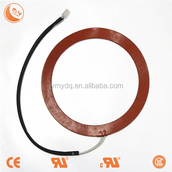 customized ring/circle/semicircle/fan silicone rubber heater