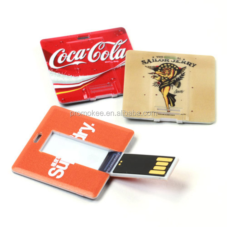 Promotional plastic ultra slim card usb flash drive 4gb