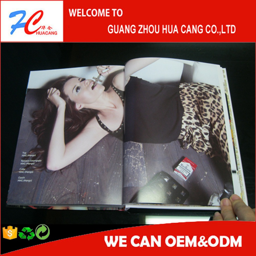 Fashion Sexy Female Magazine Made in China Top quality custom well designed cheap