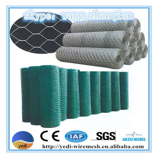 Cheap!!! hot sale Chicken hexagonal wire mesh/anping hexagonal mesh with pvc coated