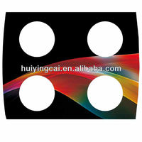 Customized gas stove glass 4mm-19mm 4 holes Gas Hob Tempered Glass Panels / clear tempered glass