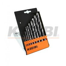 Straight Shank Kseibi HSS Fully Ground With Plastic Case 1-10mm Metal Twist <strong>Drill</strong> Bit Set