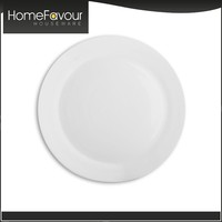 Hotel Homeware Personalized White Ceramic Dinner Plate