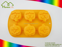 Wholesale pumpkin shape funny Bakeware tools Silicone Cake Mold