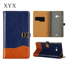 magnetic closure flip leather back cover case for nokia lumia 540, for nokia lumia 540 leather case