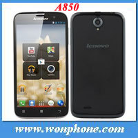 5.5 inch Lenovo A850 IPS quad core MT6582M 1.3GHZ WCDMA 3G GPS Android4.2 smart phone cell phone