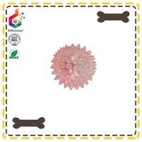 Sparkling pet chew toys with sound plastic ball