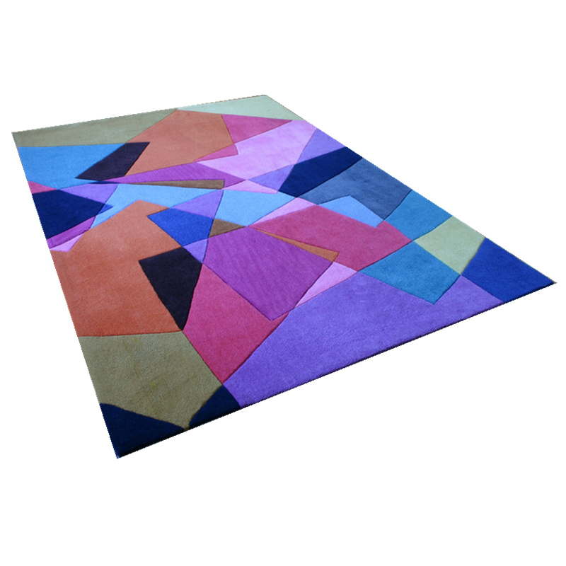 100% New zealand wool rug hand tufted carpet for floor