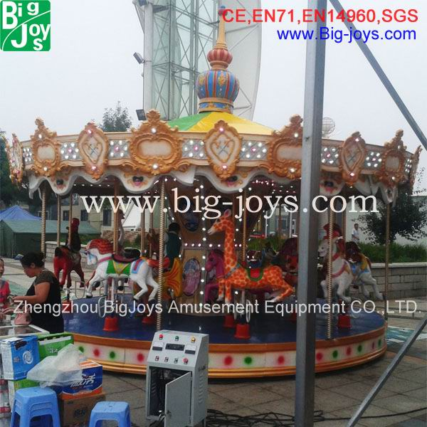 Children funfair games indoor carousel ride/merry go round made in China
