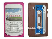 Tape Cassette Silicone Skin Case For BlackBerry 9900/9930