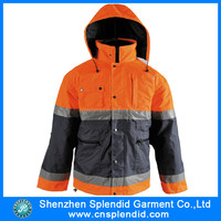custom two tone police reflective adult raincoat