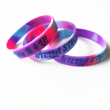 Lovely and fashion swirl silicone bracelets /silicone bangles