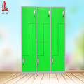 Green Z Shape Wardrobes 6 Door Lockers