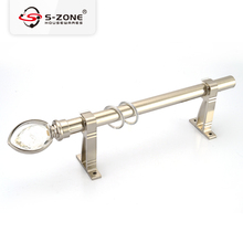 drapery hardware wholesale supplier modern decorative chrome stainless steel new designs curtain rods metal