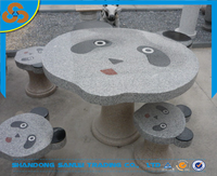 decorative garden outdoor animal panda furniture table and bench set