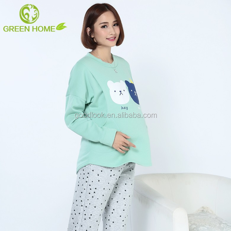 OEM spring cotton girls photos sleepwear