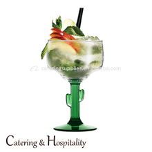 Unique big size Glass green colored Cactus wine Margaret Goblet Cocktail Cups margarita glass Ice Cream Bowl