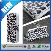C&T 2015 New Fashion Fancy magnetic leopard leather wallet flip case for iphone 6