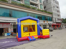 PVC 0.55mm Colorful Commercial bounce house with small slide
