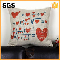Fashion printed throw pillow custom