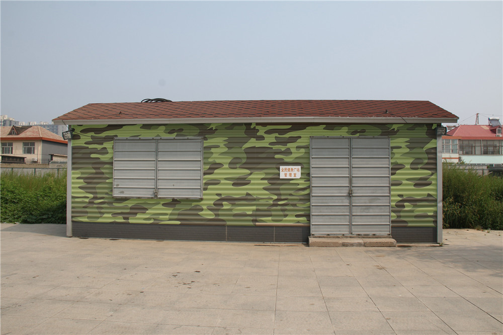 mobile solid fiber cement steel prefab house ablution container