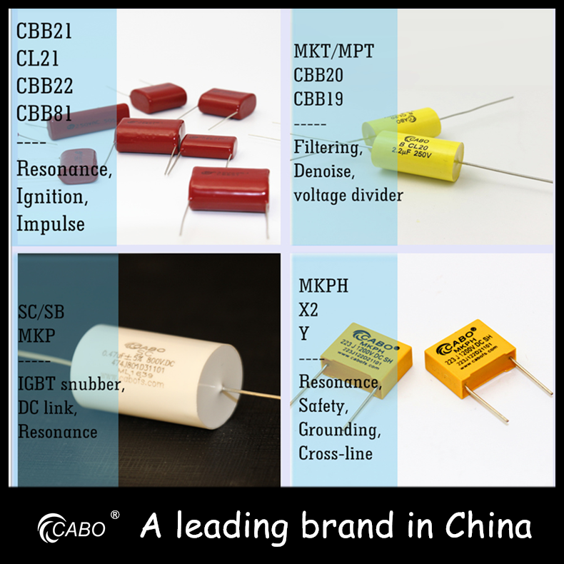 [China supplier] cbb21 cl capacitor 105j 400v 1uf 20mm pitch condenser