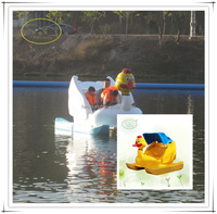 Fwulong funny fiberglass pedal boat manufacture factory in china
