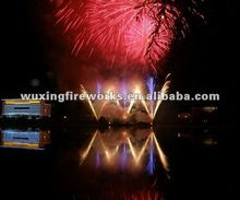 Professional fireworks display show for big celebration