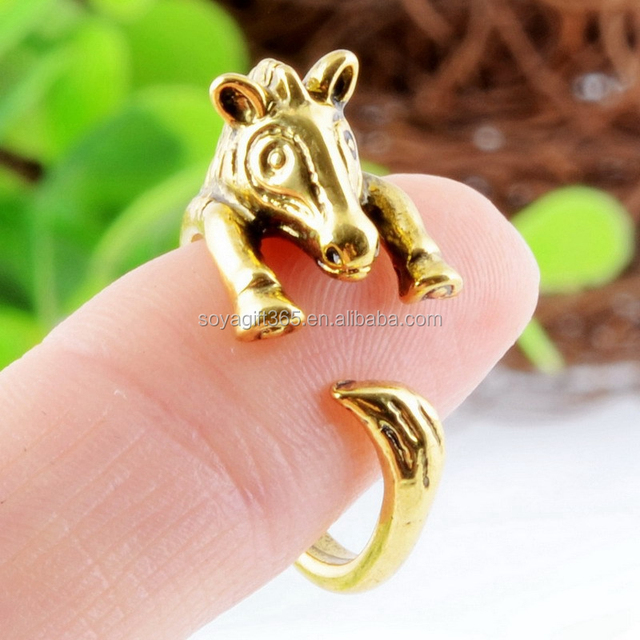 Zebra Animal Ring Retro Vintage Gold /Silver Wrap Jewellery Adjustable Gift Ring